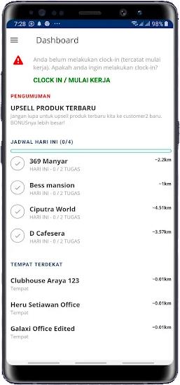 Dashboard Aplikasi Sales Lapangan Fieldmate
